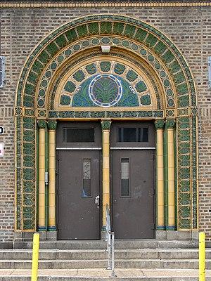 Clara Barton School (Philadelphia, Pennsylvania) - Clara Barton School entrance, September 2010