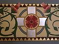 Basilica of Saint Francis Xavier (Dyersville, Iowa), interior, detail of flower pattern on walls 2.jpg