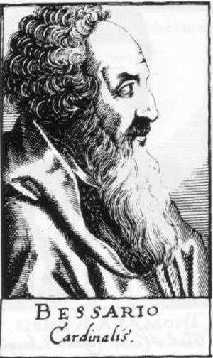 Basilios Bessarion - Basilius Bessarion; wood engraving from bibliotheca chalcographica, B1.