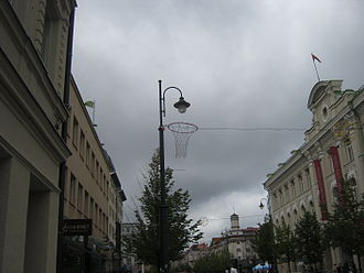 EuroBasket 2011 - Baskets and balls in Vilnius center