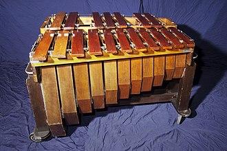 Marimba - Bass marimba: range of C2–F3
