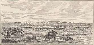 Federalization of Buenos Aires - Battle of Los Corrales (June 21): Attack by national troops, near Corrales (Mataderos), defended by the National Guard of Buenos Ayres.