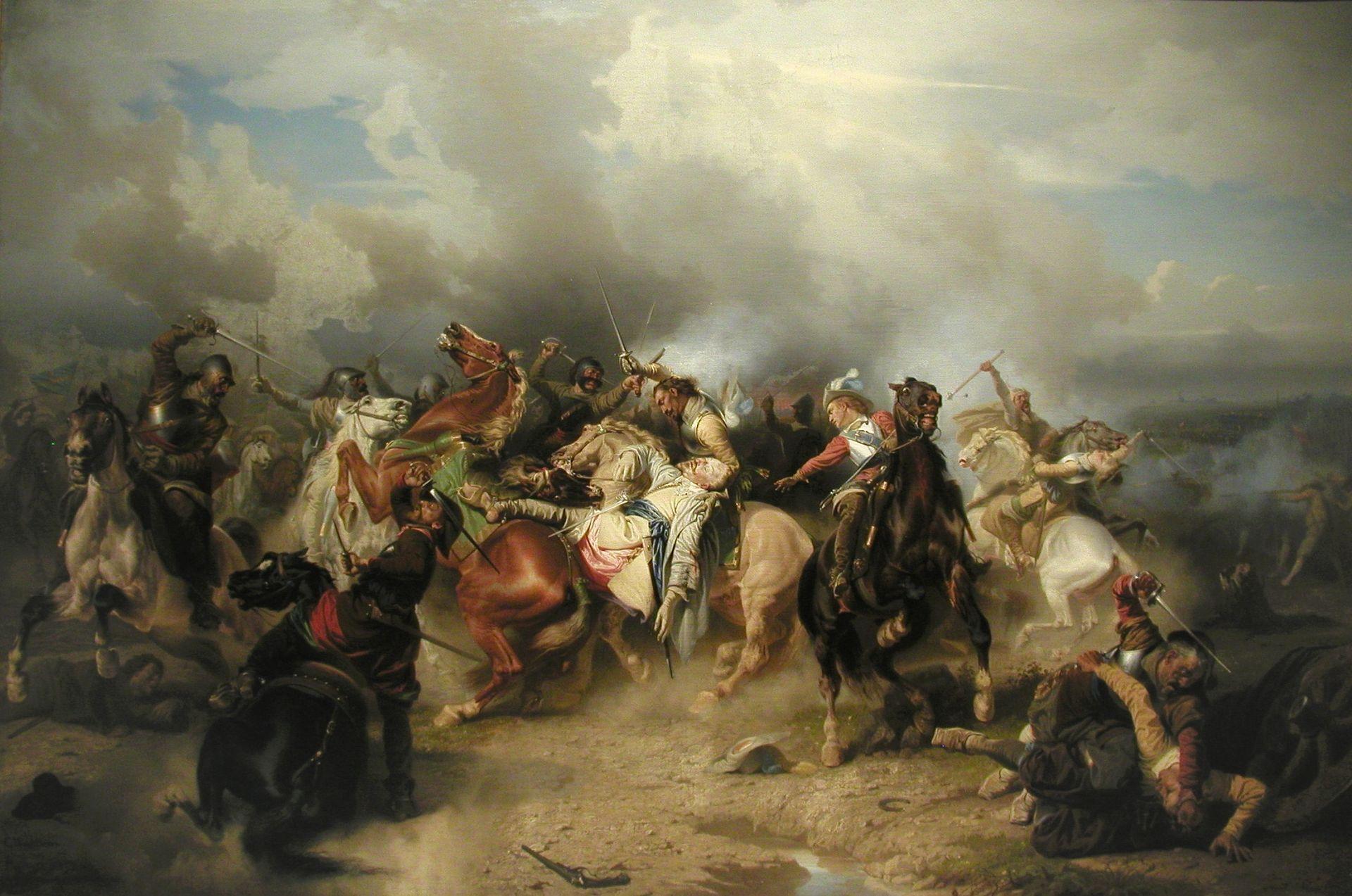 La mort de Gustave Adolphe à la bataille de Lützen par Carl Wahlbom's