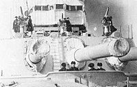 Battleship Marat 12-inch bow triple turret