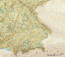 39d345819ed03 Karte der Landschaften von Bayern mit Flüssen.