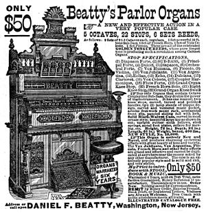 Pump organ - Beatty's Parlor Organ, 1882