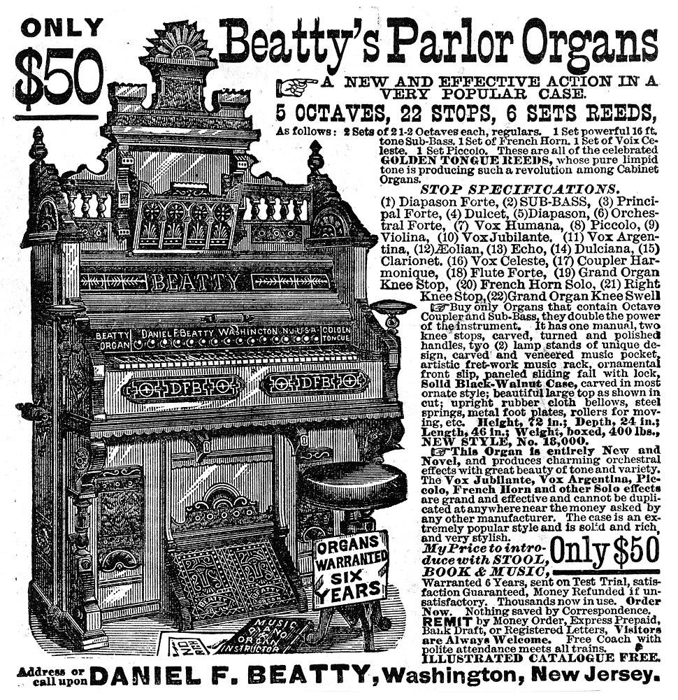Beatty%27s Parlor Organ ad 1882