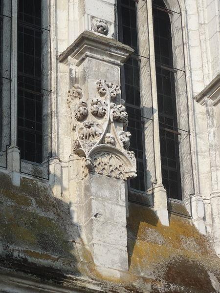 File beauvais 60 glise saint tienne clocher d tail for Pro fenetre mortagne du nord
