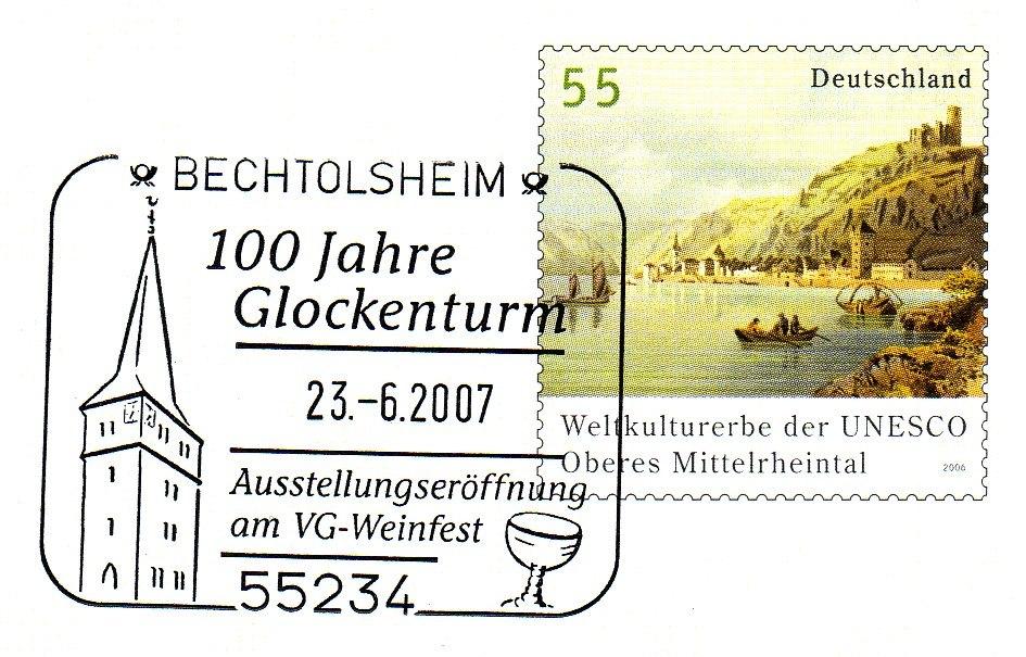 Bechtolsheim-Glockenturm-Stempel