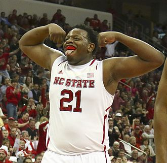 BeeJay Anya - Anya reacts after scoring for NC State in 2014