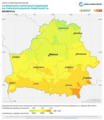 Belarus GHI Solar-resource-map lang-RU GlobalSolarAtlas World-Bank-Esmap-Solargis.png