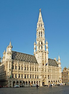 Brussels Town Hall city hall and historic building in Brussels