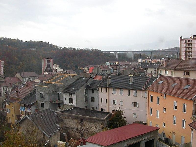 A view of Bellegarde-sur-Valserine