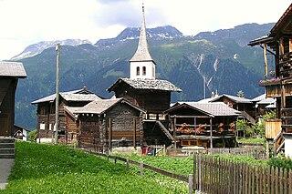Bellwald Place in Valais, Switzerland
