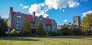 National Register of Historic Places listings in Bristol County, Rhode Island - Image: Belton Court Barrington RI 2012