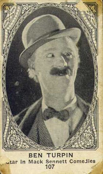 Ben Turpin - Promotional card issued by the American Caramel company in the USA in 1921