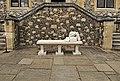 Bench outside Winchester Castle.JPG