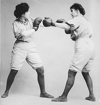 Women's boxing - Bennett sisters boxing, c.1910-1915