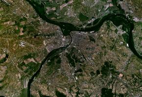 Belgrado dal satellite.