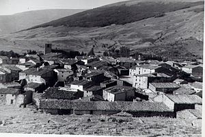 Beratón - The town of Beratón in 1975.