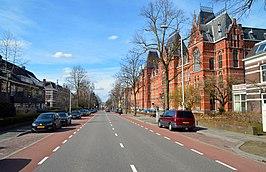 Berg en Dalseweg Nijmegen met het Canisius College aan de rechterzijde