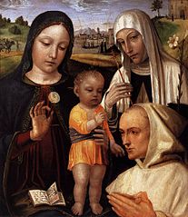 Madonna and Child, St Catherine, and the Blessed Stefano Maconi