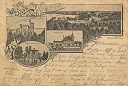 Wannsee, Villa Hardy; Bahnhof; Kaiserpavillon, Unbekannt [Public domain], via Wikimedia Commons