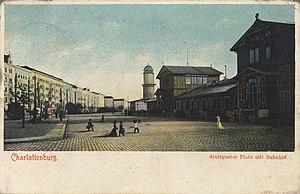 Berlin-Charlottenburg station - Charlottenburg Station on Stuttgarter Platz, 1907 postcard