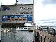 BVG-Fährlinie F10 in Alt-Kladow, betrieben durch die Stern und Kreisschiffahrt