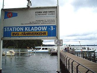 Ferry transport in Berlin - Kladow station of F10 line