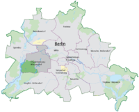 The location of Charlottenburg-Wilmersdorf in Berlin.