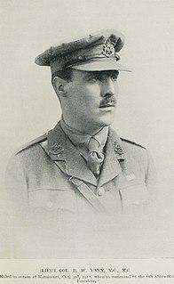Bernard Vann English recipient of the Victoria Cross