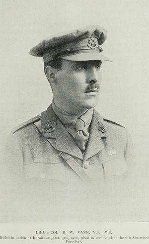 High Peak Rifles - Lt-Col The Rev Bernard Vann, VC, MC.