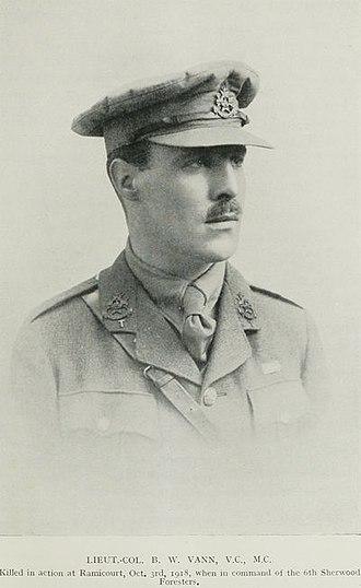 High Peak Rifles - Lt-Col The Rev Bernard Vann, VC, MC.