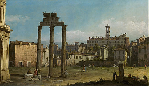 Bernardo Bellotto - Ruins of the Forum, Rome - Google Art Project