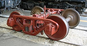 Wheelset (rail transport) - Image: Bettendorf truck at Illinois Railway Museum