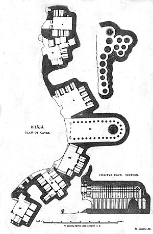 Bhaja Caves - Plan of the site