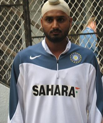 Harbhajan Singh - Harbhajan with India in 2006.