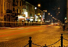 Lipowa street at night