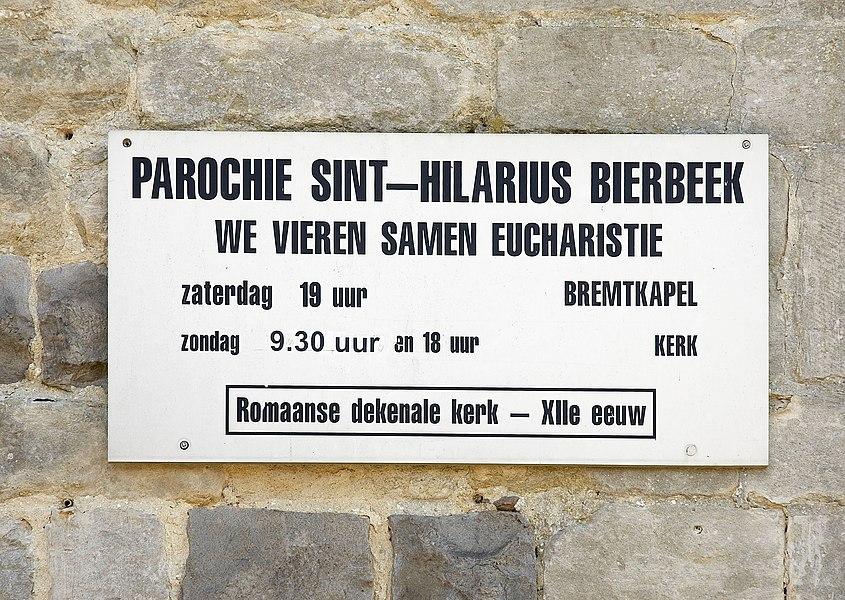 Church Saint Hilarius in Bierbeek, Belgium