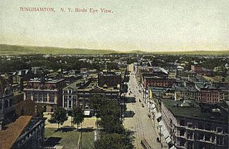 Binghamton, New York - Court Street, c. 1910