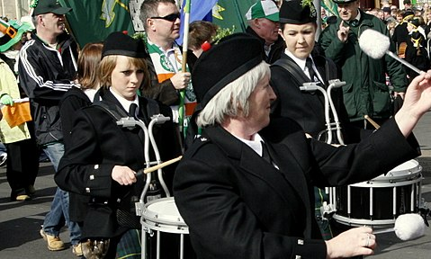 Birmingham's St Patrick's Day parade, the largest in Europe outside Dublin,