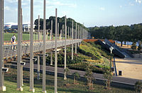 Pedestrian bridge in Birrarung Marr