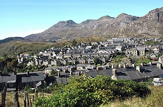 Ffestiniog - Image: Blaena' and the Moelwynion hills from the quarrymen's path to Bowydd Quarry geograph.org.uk 581860