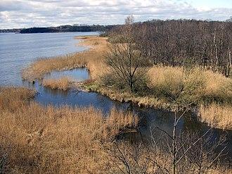 Ecotone - Image: Blick vom Löns Turm Hemmelsdorfer See Ausfluss aalbek