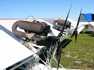 Rotax 503 - The prototype Blue Yonder Twin Engine EZ Flyer is powered by two 503s in pusher configuration