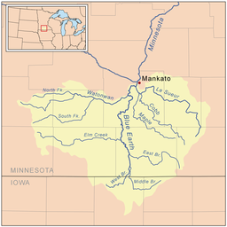 Le Sueur River Wikipedia - Minnesota rivers map