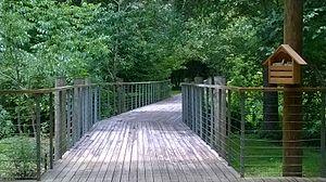 LSU Hilltop Arboretum - Image: Boardwalk at LSU Hilltop Arboretum