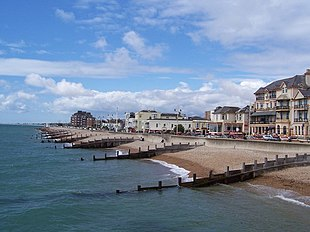 Bognor Regis seafront viewed from the pier