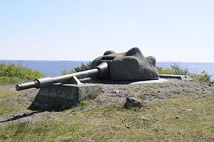 Allied Forces South Norway - Bolærne Fortress 75mm Tornpjäs m/57 automatic gun